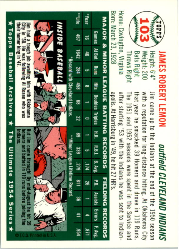 1994-Topps-Archives-1954-BB-Card-s-1-258-A1243-You-Pick-10-FREE-SHIP thumbnail 158