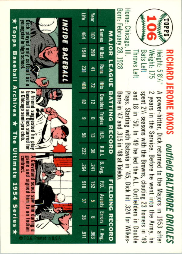 1994-Topps-Archives-1954-BB-Card-s-1-258-A1243-You-Pick-10-FREE-SHIP thumbnail 163