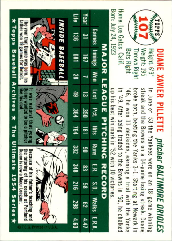 1994-Topps-Archives-1954-BB-Card-s-1-258-A1243-You-Pick-10-FREE-SHIP thumbnail 165