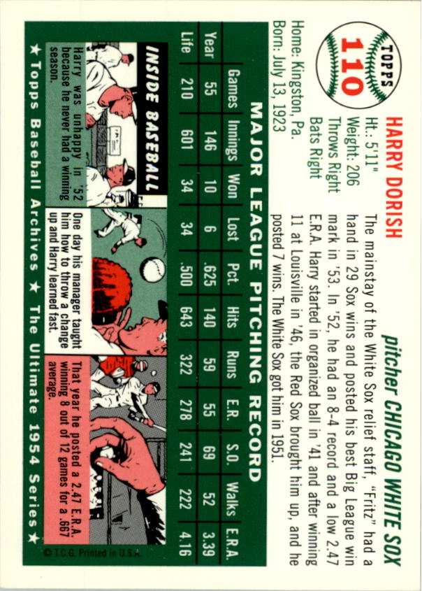 1994-Topps-Archives-1954-BB-Card-s-1-258-A1243-You-Pick-10-FREE-SHIP thumbnail 167