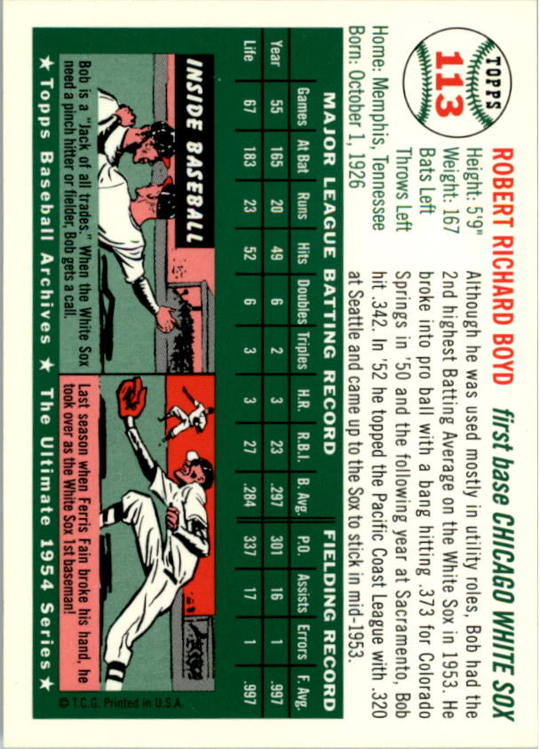 1994-Topps-Archives-1954-BB-Card-s-1-258-A1243-You-Pick-10-FREE-SHIP thumbnail 172