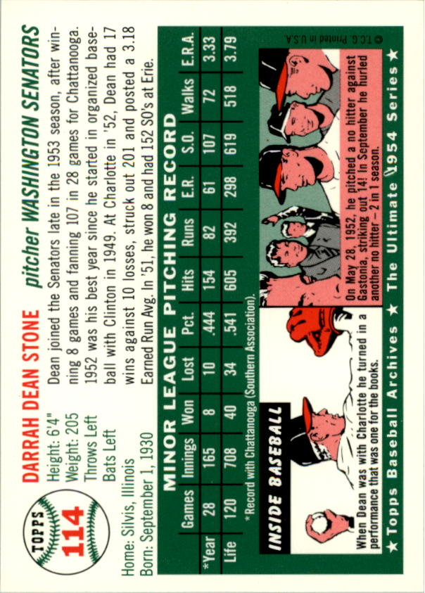 1994-Topps-Archives-1954-BB-Card-s-1-258-A1243-You-Pick-10-FREE-SHIP thumbnail 174