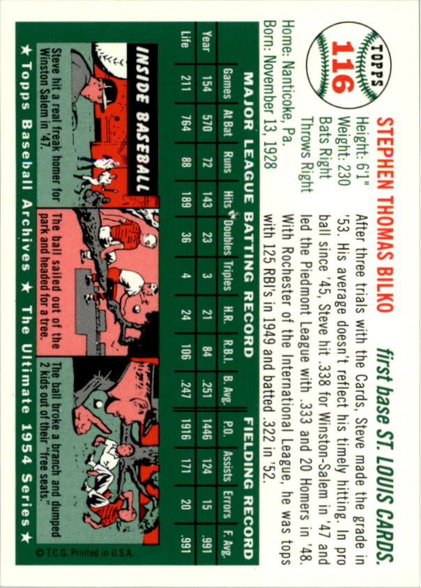 1994-Topps-Archives-1954-BB-Card-s-1-258-A1243-You-Pick-10-FREE-SHIP thumbnail 178