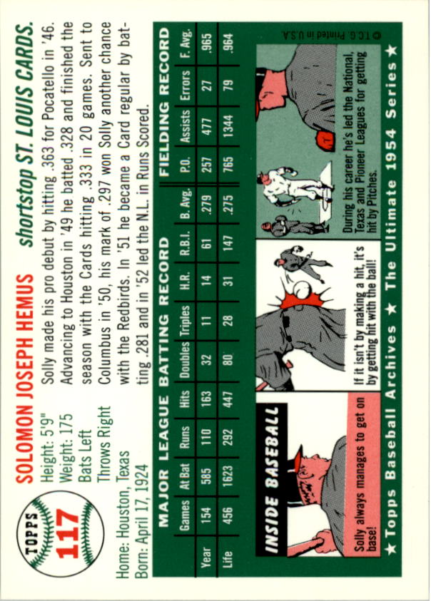 1994-Topps-Archives-1954-BB-Card-s-1-258-A1243-You-Pick-10-FREE-SHIP thumbnail 180