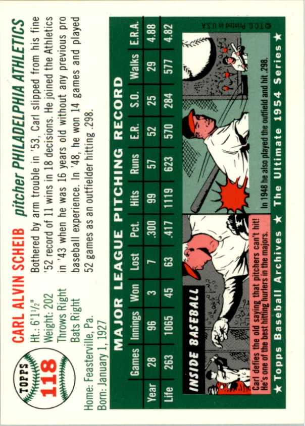 1994-Topps-Archives-1954-BB-Card-s-1-258-A1243-You-Pick-10-FREE-SHIP thumbnail 182