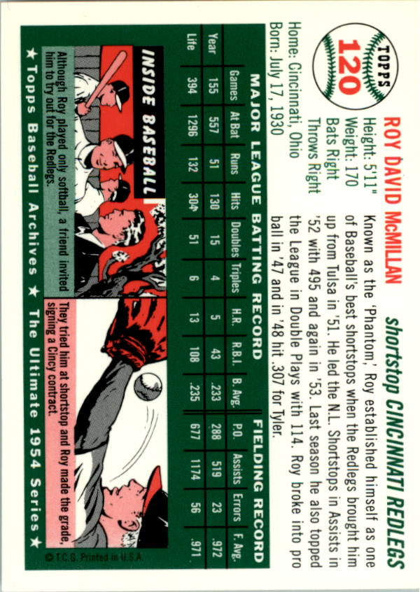 1994-Topps-Archives-1954-BB-Card-s-1-258-A1243-You-Pick-10-FREE-SHIP thumbnail 186
