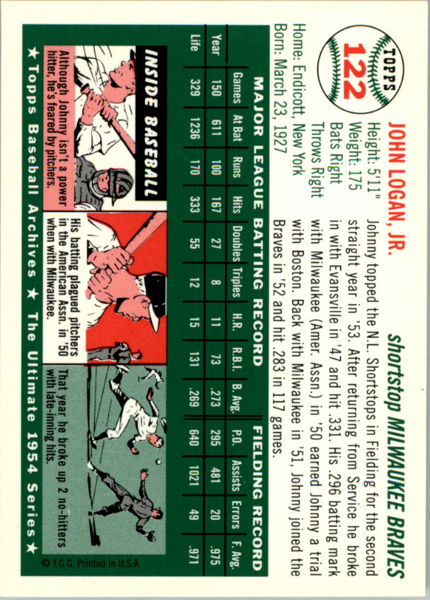 1994-Topps-Archives-1954-BB-Card-s-1-258-A1243-You-Pick-10-FREE-SHIP thumbnail 190