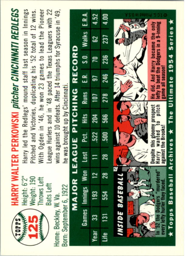 1994-Topps-Archives-1954-BB-Card-s-1-258-A1243-You-Pick-10-FREE-SHIP thumbnail 195