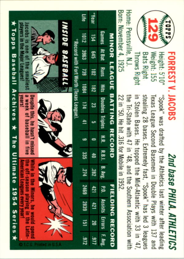 1994-Topps-Archives-1954-BB-Card-s-1-258-A1243-You-Pick-10-FREE-SHIP thumbnail 202