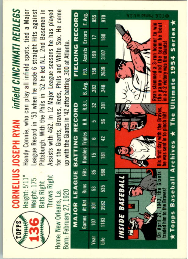 1994-Topps-Archives-1954-BB-Card-s-1-258-A1243-You-Pick-10-FREE-SHIP thumbnail 211