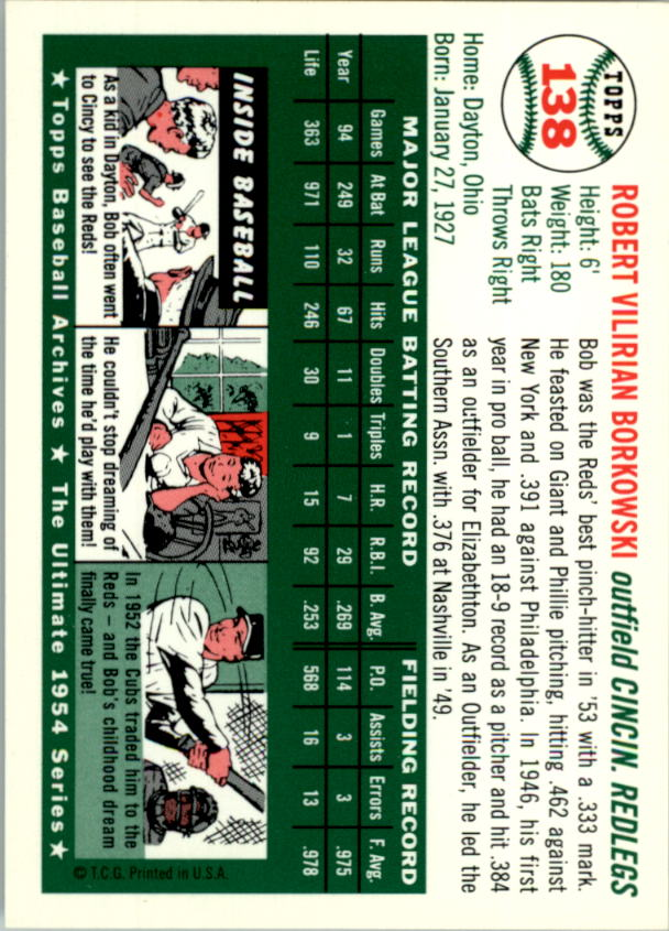 1994-Topps-Archives-1954-BB-Card-s-1-258-A1243-You-Pick-10-FREE-SHIP thumbnail 215
