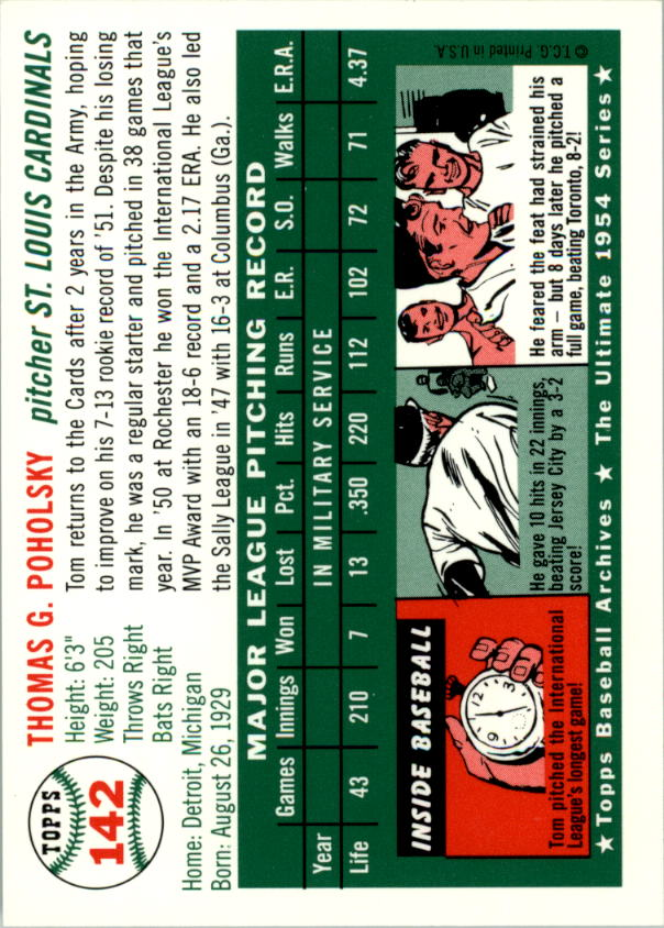 1994-Topps-Archives-1954-BB-Card-s-1-258-A1243-You-Pick-10-FREE-SHIP thumbnail 220