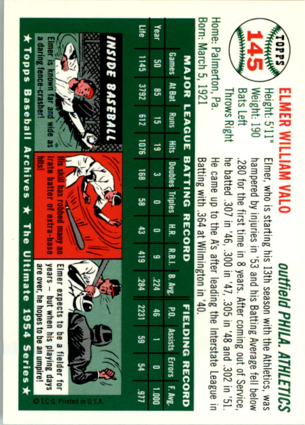 1994-Topps-Archives-1954-BB-Card-s-1-258-A1243-You-Pick-10-FREE-SHIP thumbnail 226