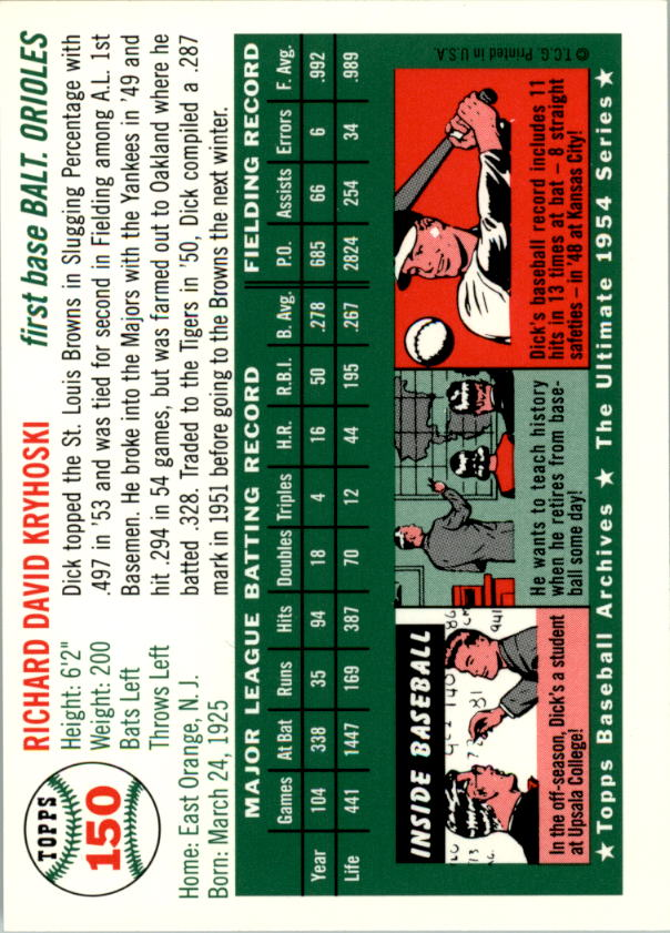 1994-Topps-Archives-1954-BB-Card-s-1-258-A1243-You-Pick-10-FREE-SHIP thumbnail 233