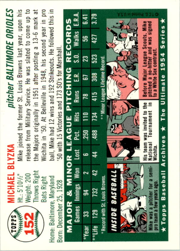 1994-Topps-Archives-1954-BB-Card-s-1-258-A1243-You-Pick-10-FREE-SHIP thumbnail 236