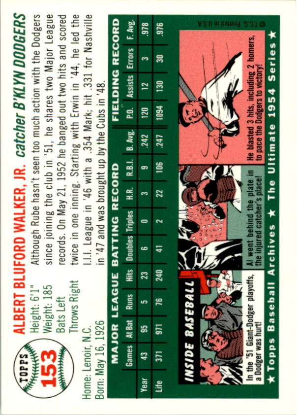 1994-Topps-Archives-1954-BB-Card-s-1-258-A1243-You-Pick-10-FREE-SHIP thumbnail 238