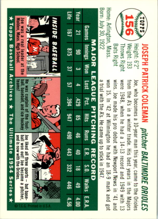 1994-Topps-Archives-1954-BB-Card-s-1-258-A1243-You-Pick-10-FREE-SHIP thumbnail 244