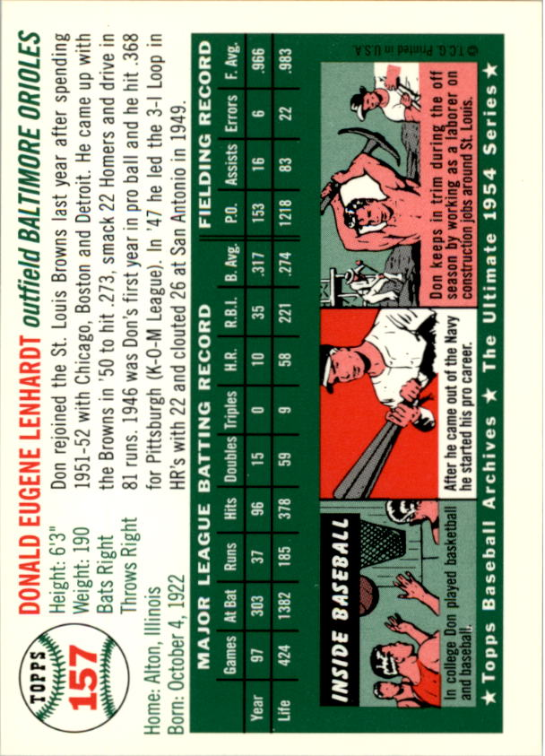 1994-Topps-Archives-1954-BB-Card-s-1-258-A1243-You-Pick-10-FREE-SHIP thumbnail 246