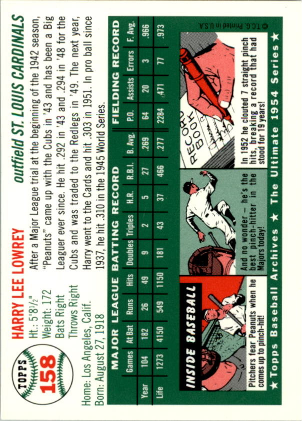 1994-Topps-Archives-1954-BB-Card-s-1-258-A1243-You-Pick-10-FREE-SHIP thumbnail 248