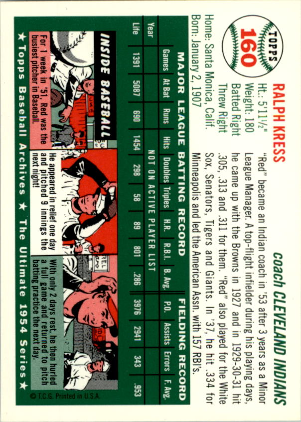 1994-Topps-Archives-1954-BB-Card-s-1-258-A1243-You-Pick-10-FREE-SHIP thumbnail 250