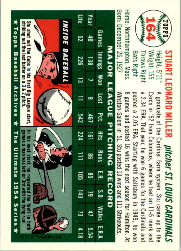 1994-Topps-Archives-1954-BB-Card-s-1-258-A1243-You-Pick-10-FREE-SHIP thumbnail 256