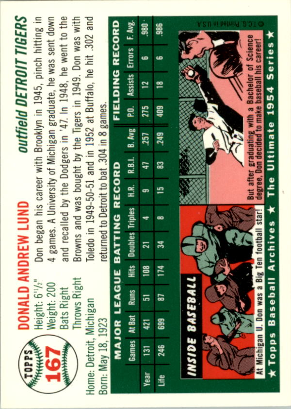 1994-Topps-Archives-1954-BB-Card-s-1-258-A1243-You-Pick-10-FREE-SHIP thumbnail 260
