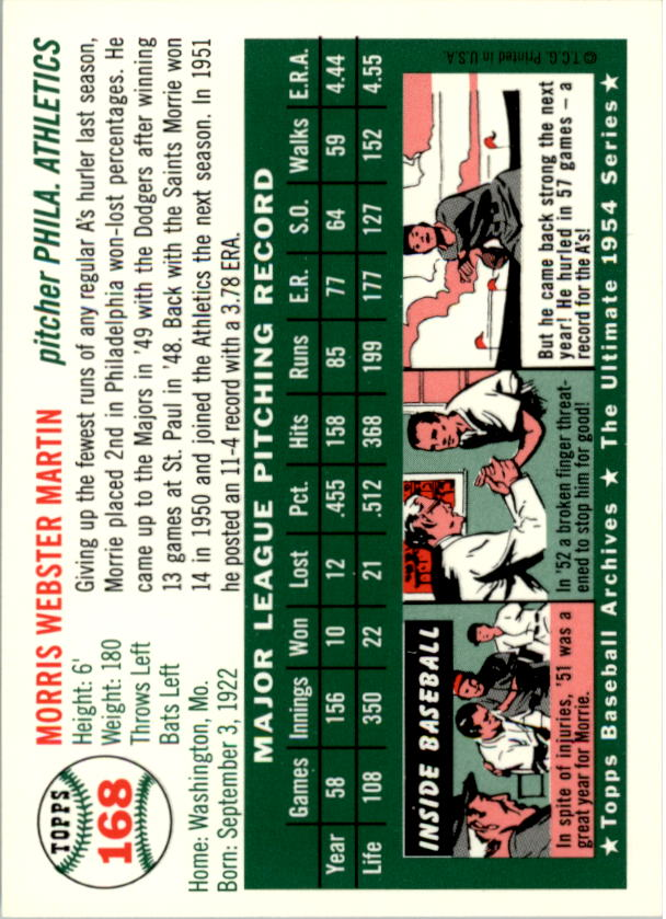 1994-Topps-Archives-1954-BB-Card-s-1-258-A1243-You-Pick-10-FREE-SHIP thumbnail 262