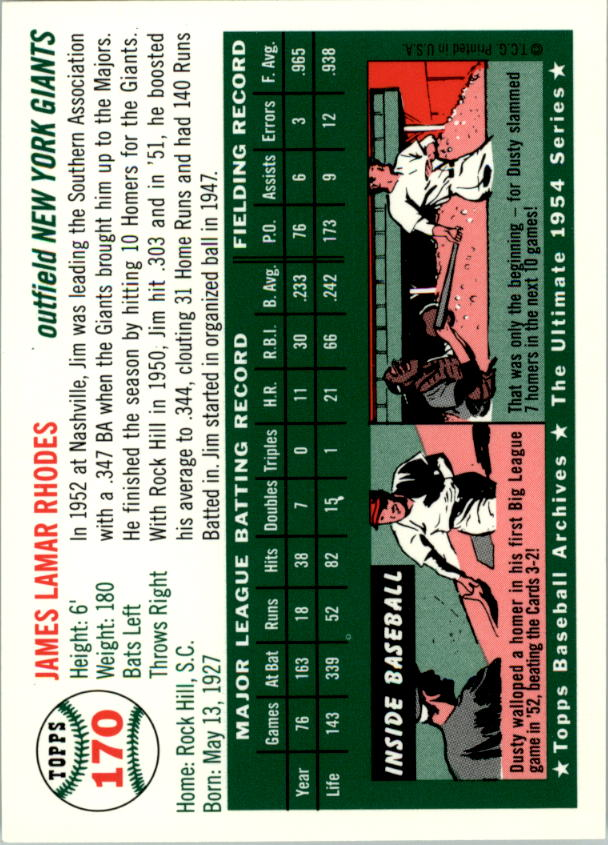 1994-Topps-Archives-1954-BB-Card-s-1-258-A1243-You-Pick-10-FREE-SHIP thumbnail 266
