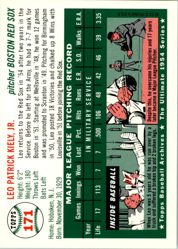 1994-Topps-Archives-1954-BB-Card-s-1-258-A1243-You-Pick-10-FREE-SHIP thumbnail 268
