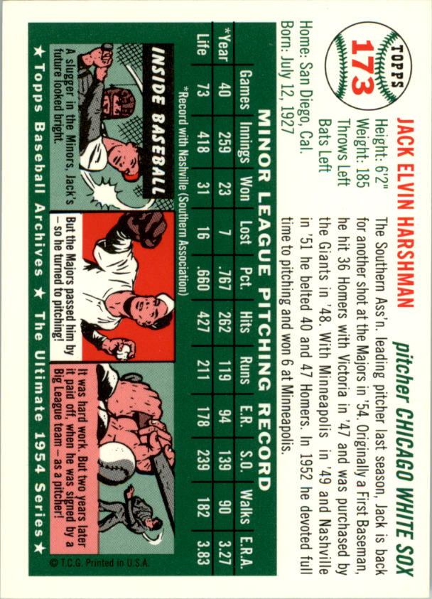 1994-Topps-Archives-1954-BB-Card-s-1-258-A1243-You-Pick-10-FREE-SHIP thumbnail 270
