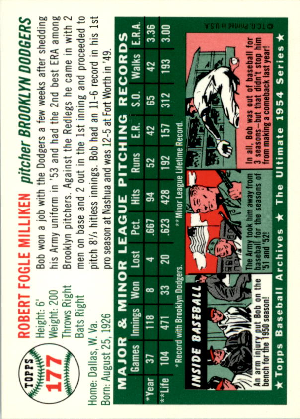 1994-Topps-Archives-1954-BB-Card-s-1-258-A1243-You-Pick-10-FREE-SHIP thumbnail 277