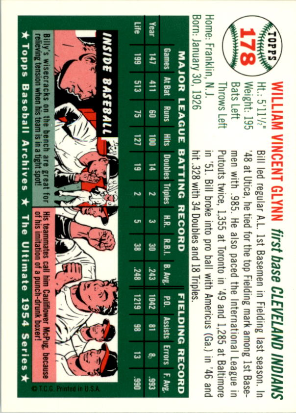 1994-Topps-Archives-1954-BB-Card-s-1-258-A1243-You-Pick-10-FREE-SHIP thumbnail 279