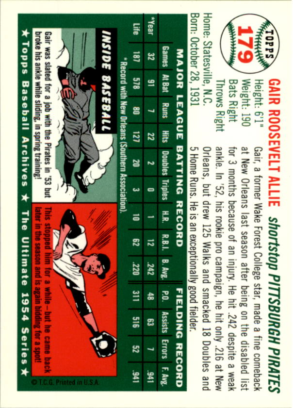 1994-Topps-Archives-1954-BB-Card-s-1-258-A1243-You-Pick-10-FREE-SHIP thumbnail 281