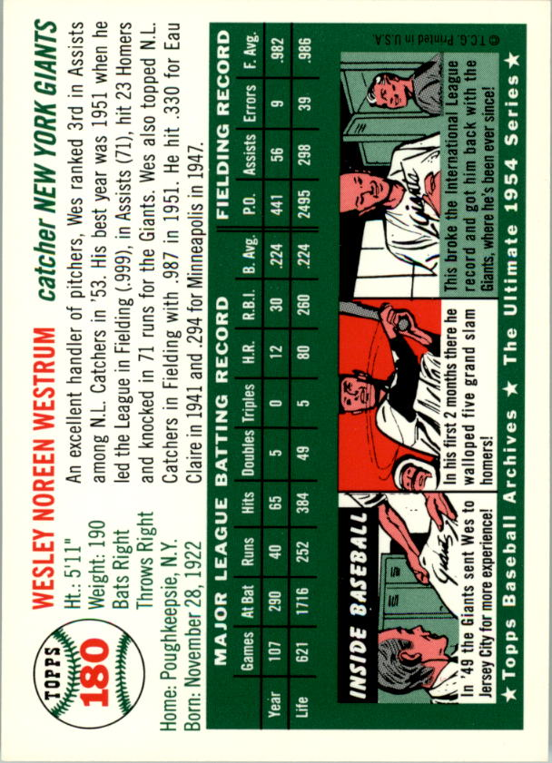1994-Topps-Archives-1954-BB-Card-s-1-258-A1243-You-Pick-10-FREE-SHIP thumbnail 283