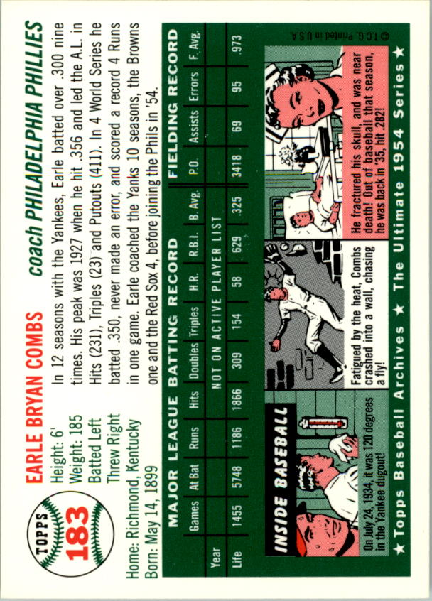 1994-Topps-Archives-1954-BB-Card-s-1-258-A1243-You-Pick-10-FREE-SHIP thumbnail 287