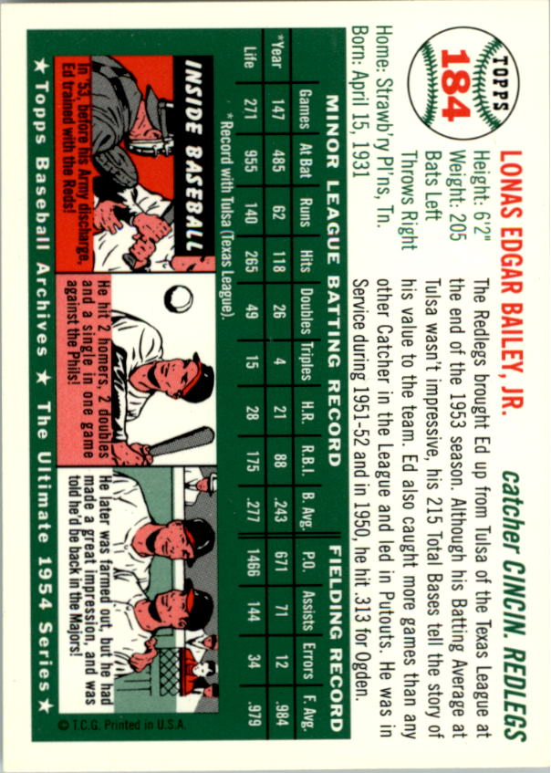 1994-Topps-Archives-1954-BB-Card-s-1-258-A1243-You-Pick-10-FREE-SHIP thumbnail 289