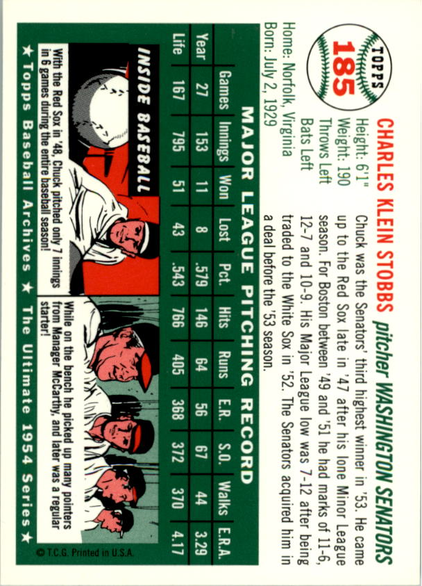 1994-Topps-Archives-1954-BB-Card-s-1-258-A1243-You-Pick-10-FREE-SHIP thumbnail 291