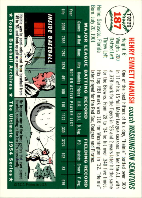 1994-Topps-Archives-1954-BB-Card-s-1-258-A1243-You-Pick-10-FREE-SHIP thumbnail 295