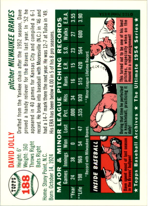 1994-Topps-Archives-1954-BB-Card-s-1-258-A1243-You-Pick-10-FREE-SHIP thumbnail 297