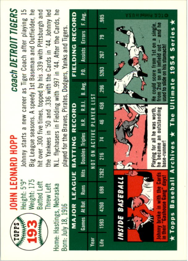 1994-Topps-Archives-1954-BB-Card-s-1-258-A1243-You-Pick-10-FREE-SHIP thumbnail 305