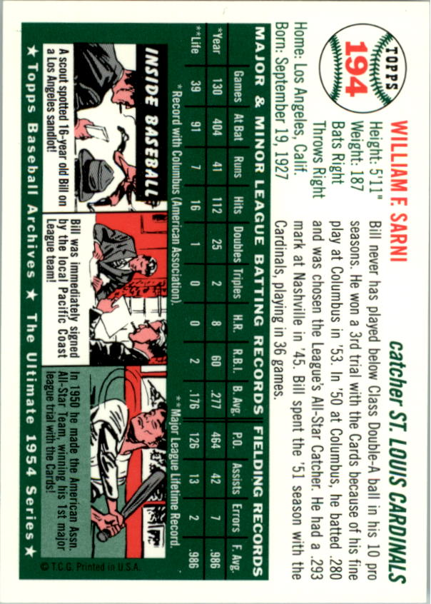 1994-Topps-Archives-1954-BB-Card-s-1-258-A1243-You-Pick-10-FREE-SHIP thumbnail 307