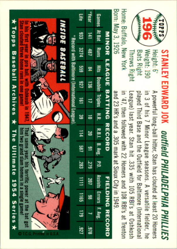 1994-Topps-Archives-1954-BB-Card-s-1-258-A1243-You-Pick-10-FREE-SHIP thumbnail 310