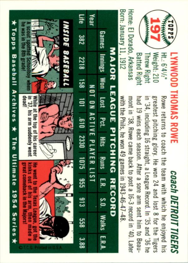 1994-Topps-Archives-1954-BB-Card-s-1-258-A1243-You-Pick-10-FREE-SHIP thumbnail 312