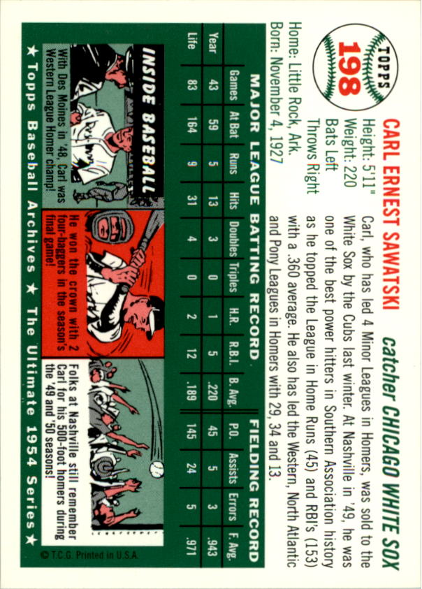 1994-Topps-Archives-1954-BB-Card-s-1-258-A1243-You-Pick-10-FREE-SHIP thumbnail 314