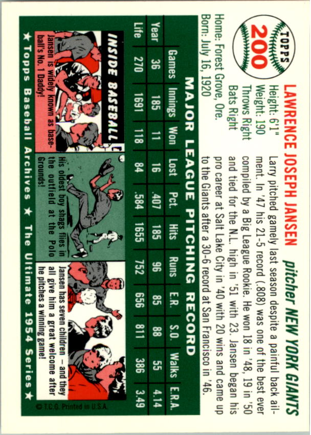 1994-Topps-Archives-1954-BB-Card-s-1-258-A1243-You-Pick-10-FREE-SHIP thumbnail 317