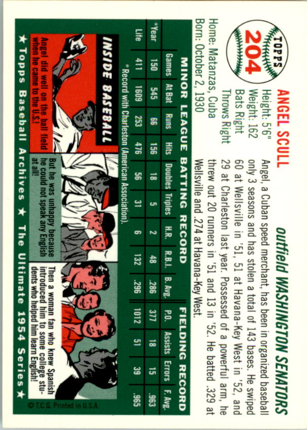 1994-Topps-Archives-1954-BB-Card-s-1-258-A1243-You-Pick-10-FREE-SHIP thumbnail 325