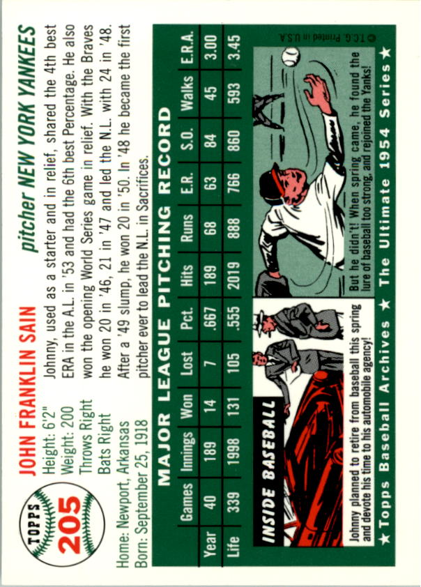 1994-Topps-Archives-1954-BB-Card-s-1-258-A1243-You-Pick-10-FREE-SHIP thumbnail 327