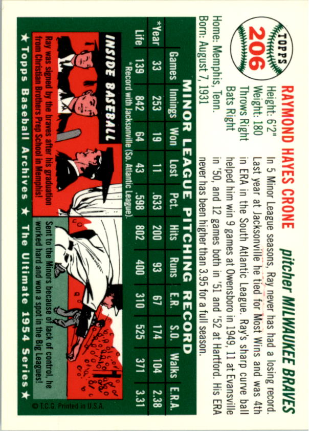 1994-Topps-Archives-1954-BB-Card-s-1-258-A1243-You-Pick-10-FREE-SHIP thumbnail 329