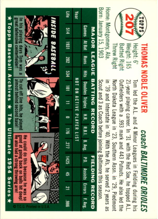 1994-Topps-Archives-1954-BB-Card-s-1-258-A1243-You-Pick-10-FREE-SHIP thumbnail 331