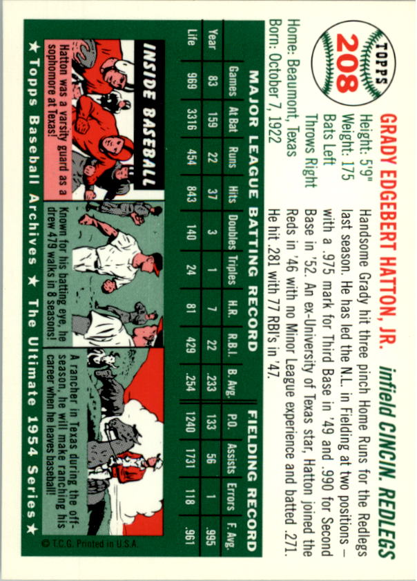 1994-Topps-Archives-1954-BB-Card-s-1-258-A1243-You-Pick-10-FREE-SHIP thumbnail 333